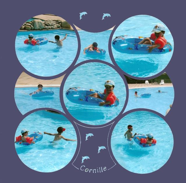 modele scrapbooking piscine